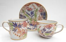 C1805 Coalport Cup Saucer Trio Antique Japan Imari Pattern Blue Red Green Gold C