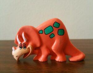 Vintage Flintstones Fruity Pebbles Orange Toy Dinosaur Cereal Prize Toy 1990