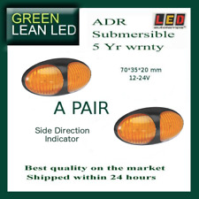NEW A PAIR LED 12V 24V SIDE  DIRECTION  INDICATOR AMBER TRUCK UTE Lamp