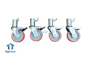 Classic Scaffold Tower Castors - Set of 4 Wheels - Best Quality - Guaranteed