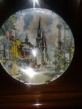 """Antique English Plate. Mint. New. Royal Doulton. """"French Quarter"""". New Orleans."""