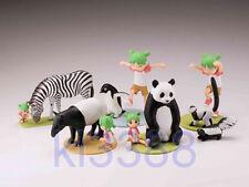 Kaiyodo Yotsuba&! & Monochrome Animals vol. 2 gashapon 5pcs set