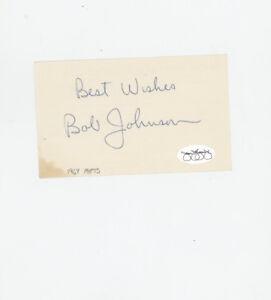Robert W. Johnson 1967  New York Mets signed 3x5 blank index card JSA