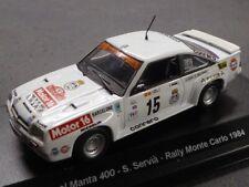 OPEL MANTA 400 CONRERO RALLYE MONTECARLO 1984 SERVIA-SABATER KITCAR43 141DC43