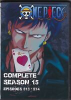 One Piece Episodes 513-574 in English Dub / Japanese Season 15 on 6 DVD Anime