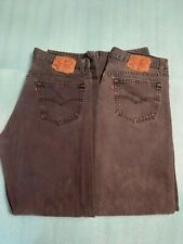 2 Pair of Men's Levi 501 Button Fly Jeans Black-size 35W x 32L