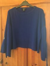 Wonen's New Look Size 12 petite blue jumper