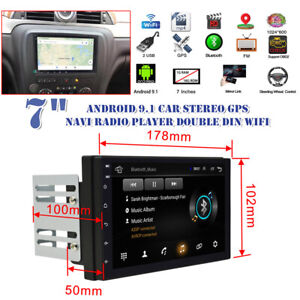 "7"" Android9.1 Car Stereo GPS Navi Radio Player Double Din WIFI for Android&Apple"
