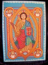 LARGE PAINTED ICON ART/medieval 1220/GLORY OF JESUS CHRIST.*CODEX - BRUCHSAL*