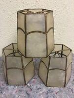 Set Of Three Vintage Shell Nightlight Shades