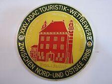 GERMAN CAR BADGE - 1988 XXXV. ADAC TOURISTIK-WETTBEWERB NORD-OSTSEE - ZWISCHEN