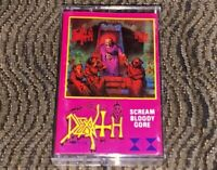 DEATH - Scream Bloody Gore Cassette Tape Plays Well Rare Death Metal 1TACT/TAKT1
