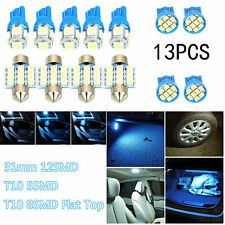 13x Car Interior LED Lights Blue Bulbs Truck Auto Dome License Plate Lamp Sets