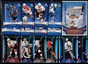2006-07 GATORADE 2007-08 PEPSI COLLECTION NHL HOCKEY CARD SEE LIST