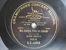 78rpm HANS FREDY singt MEIN ANNEKEN POLKA - ORIGINAL G&T BERLIN 1902 1st Stamper