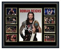 WWE ROMAN REIGNS SIGNED LIMITED EDITION FRAMED MEMORABILIA