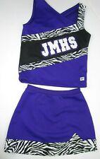 "NEW Cheerleader Uniform Outfit Cheer Costume 36"" Chest 26"" Elastic Skirt Zebra"