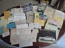 Vtg Paper Ephemera~ Letters, Military, Postcards,Pictures, Invoices, Etc 175pc+