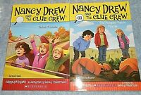 NANCY DREW AND THE CLUE CREW SCHOLASTIC BOOKS LOT OF 2