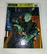 1990 Universal Studios Monsters Frankenstein Frame Tray Puzzle, Golden MINT