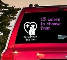 8 Sizes Veterinary Assistant Car Window Decal Sticker Macbook Laptop Tablet
