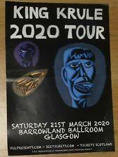 More details for king krule - glasgow march 2020 live show tour memorabilia concert gig poster