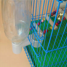 New listing 5Pcs WhIte Plastic Water Bottle Bird Feeder Drinker Pigeon For Poultry Cup