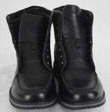 Mens Black Ankle Boots Size 12 No Insoles No Laces