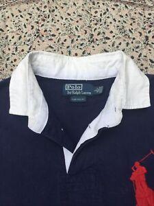 RALPH LAUREN - Navy - Cotton Pique - Short Sleeve - Polo Shirt - L