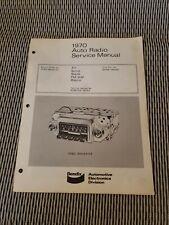 1970 Ford Maverick Radio Service Manual Bendix OFBD DODA-19A241