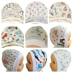 WHITE  Newborn - 12 months  BABY HATS BONNETS  WITH LACES / TIED UP  100% COTTON