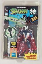 SPAWN MEDIEVAL SPAWN WITH SPIN ACTION SHIELD/KNIFE & SWORD PLUS SPAWN COMIC BOOK