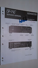 Kenwood dp-710 service manual original repair book stereo cd player
