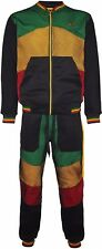 Rasta Fleece Tracksuit Hooded Jacket & Elasticated Bottoms 2 Piece Full Set