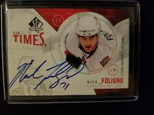 Nick Foligno 2009-10 SP Authentic Sign of Times Auto