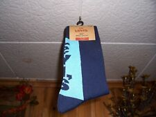LEVIS MENS REGULAR CUT SOCKS WITH LOGO SIZE 8-12 BLUE 1 PAIR CASUAL SOFT NEW