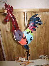 Figura Decorativa Gallo pollo de Colores Metal Escultura Decoración Pascuas H