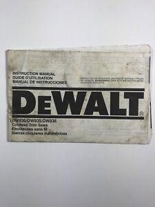 Owner's Operator's Manual (Dewalt Cordless Trim Saws) Model #: DW930/DW935/DW936