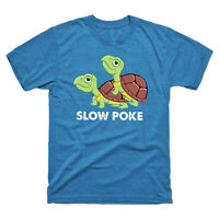 Turtle Slow Poke Funny Vintage Men's Short Sleeve Tee Retro Cotton T-shirt