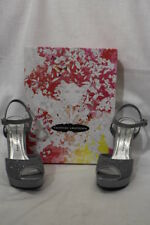 """Mint Silver Glitter CHINESE LAUNDRY """"Hide Out"""" Platforms Womens 7M-B122"""