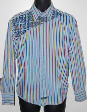 English Laundry Mens Size Medium Striped Long Sleeve Button Front Casual Shirt