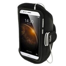 Negro brazalete neopreno Armband carcasa para Huawei G8 deporte funda cinta Gimn