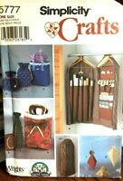 Simplicity 5777 Craft Gift Wrap Accessories Organizer Bags Boxes U/C Sew Pattern
