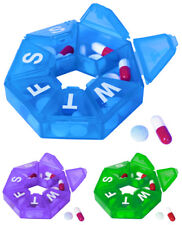 Seven-Sided Pill Organizer Small - Item 393 IN BLUE