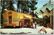 Fresno, California Postcard Mr. Toad's Cart in Storyland - Roeding Park 1962