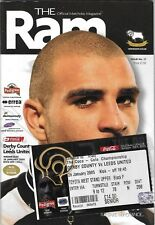 Football Programme plus ticket>DERBY COUNTY v LEEDS UNITED Jan 2005