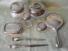 Antique Sterling Silver Beaded Dresser Set ~ Gorham