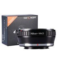 Adapter for Nikon AI F Lens Mount to Micro4/3 M43 E-M5 PM2 E-PL5 GX1 K&F Concept
