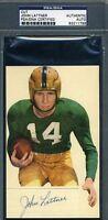 Johnny Lattner Vintage Signed Psa/dna 3x5 Index Card Cut Autograph