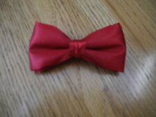 New Boys Bow Ties Red Satin Solid/Made In The Usa